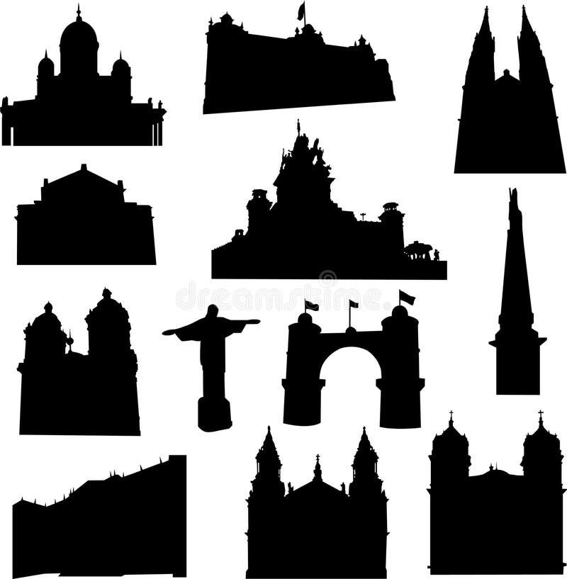 De architectuur van Zuid-Amerika vector illustratie