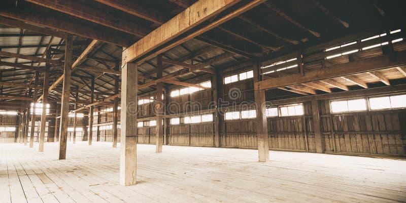 De Architectuurdetails van de schuur Binnenlandse Houtconstructie stock fotografie