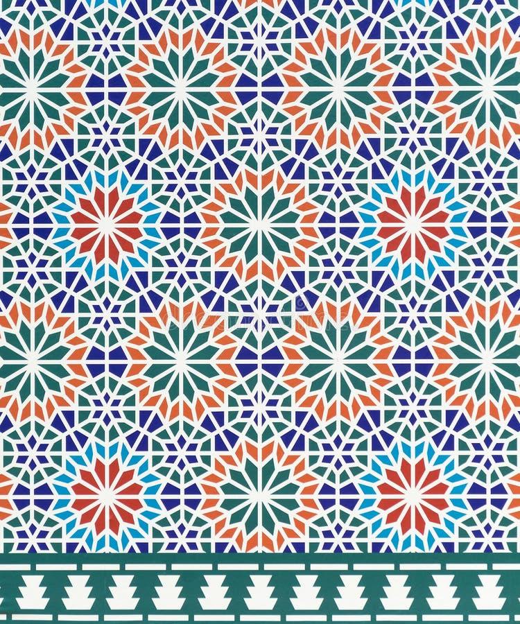 De architectuurstijl van Marokko royalty-vrije illustratie