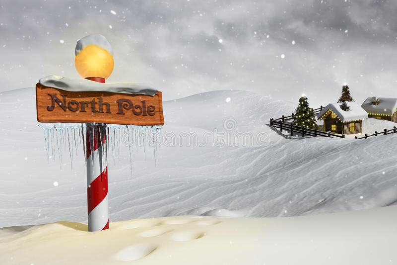 De Arctica stock illustratie