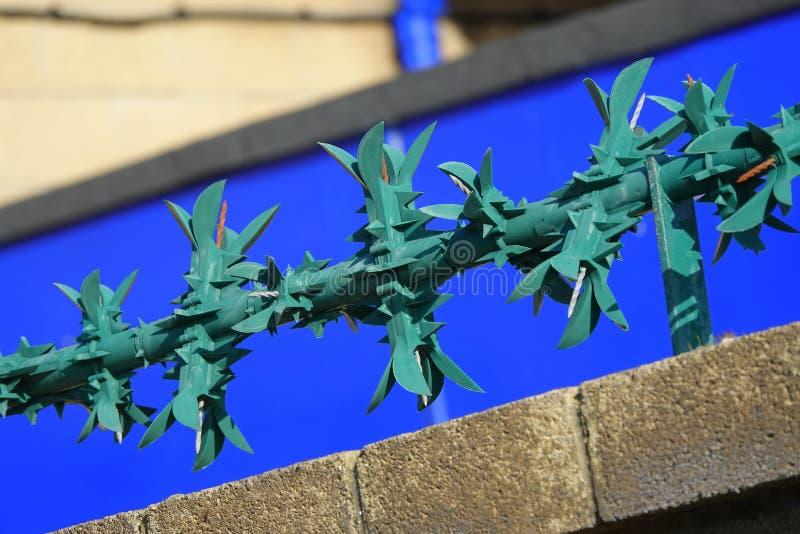 De aren van de staalveiligheid op muur royalty-vrije stock foto's
