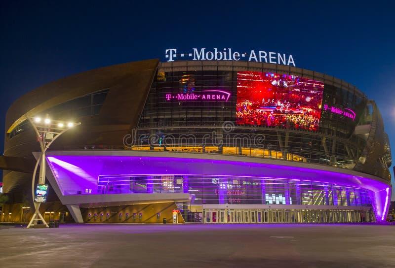 De arena van Las Vegas T-Mobile stock afbeelding