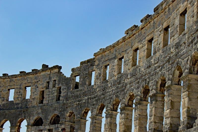 De Arena van Pula Istria stock afbeeldingen