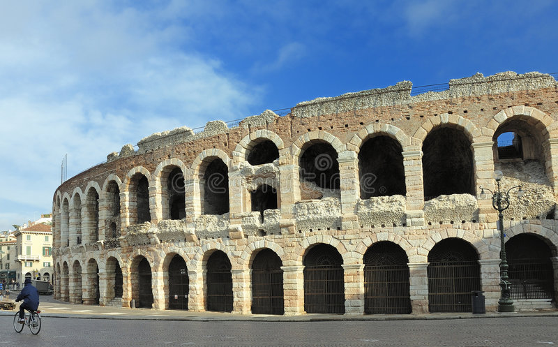 De Arena van Verona stock afbeelding