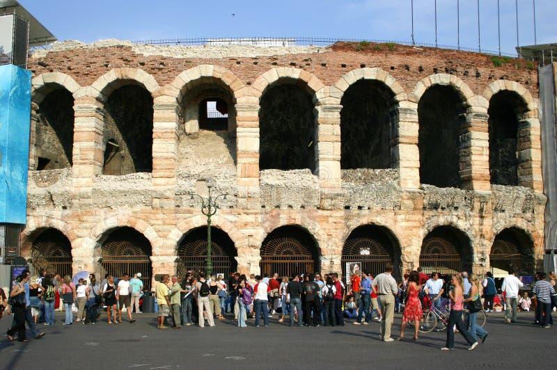 De arena in Verona stock afbeelding