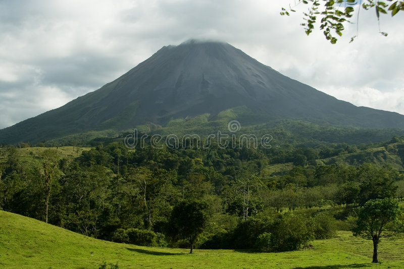 Arenal Vulkaan, Costa Rica royalty-vrije stock foto