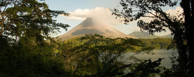 Arenal Vulkaan, Costa Rica stock afbeeldingen