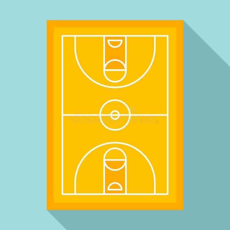 De arenapictogram van het sportbasketbal, vlakke stijl stock illustratie