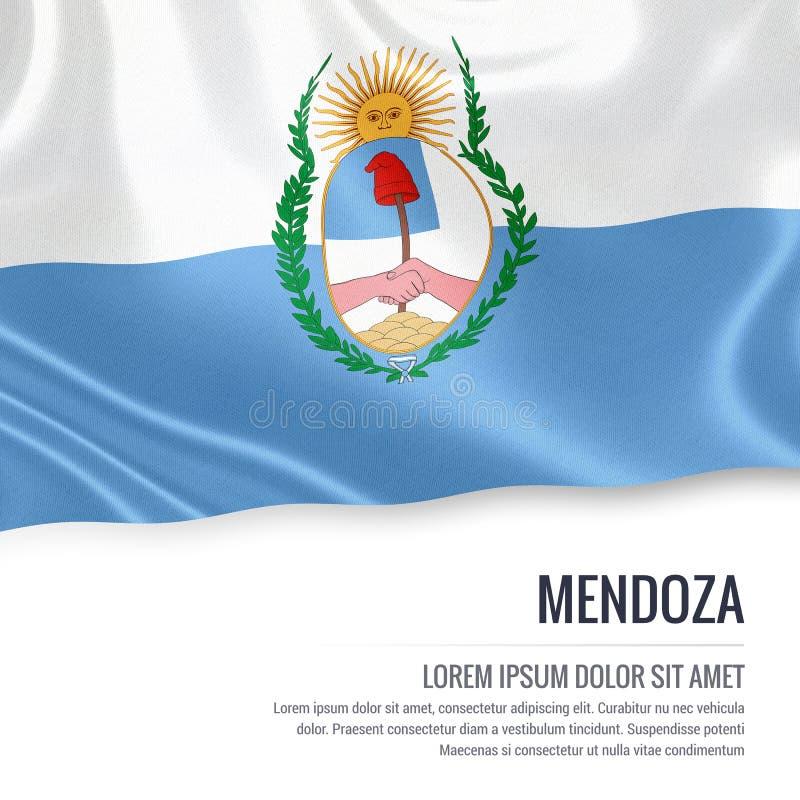 De Argentijnse vlag van Mendoza van de staat royalty-vrije illustratie