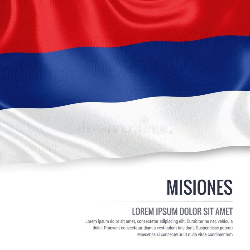De Argentijnse vlag van Miniones van de staat stock illustratie