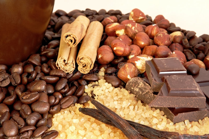 De Aroma's van de koffie stock foto