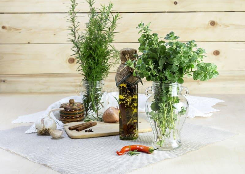 De aromatische kruiden royalty-vrije stock foto's