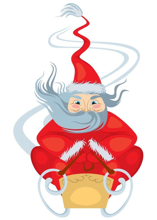 De arritten van de Kerstman stock illustratie