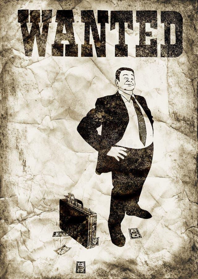 De arrogante bankier royalty-vrije illustratie