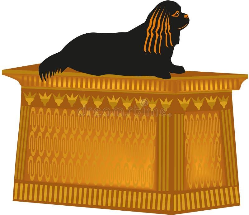 De Arrogante Koning Charles Spaniel van het hondstandbeeld vector illustratie