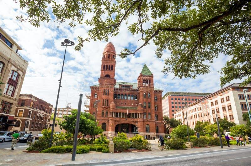 De Arrondissementsrechtbank van de Bexarprovincie in San Antonio stock foto's