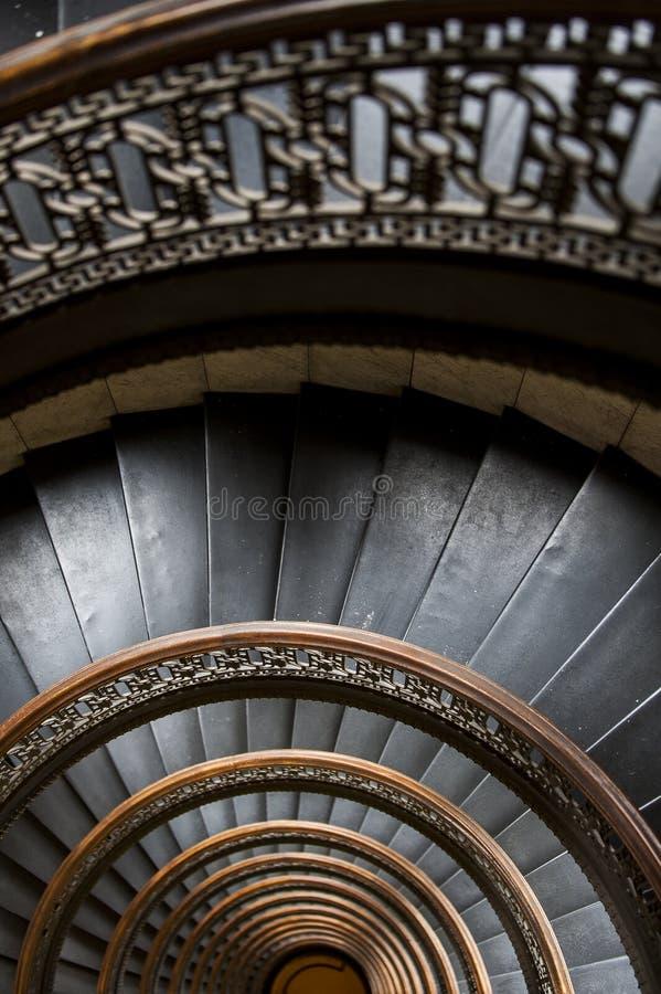 De Arrottbouw - half Cirkel Spiraalvormige Marmeren Trap - Pittsburgh Van de binnenstad, Pennsylvania royalty-vrije stock fotografie