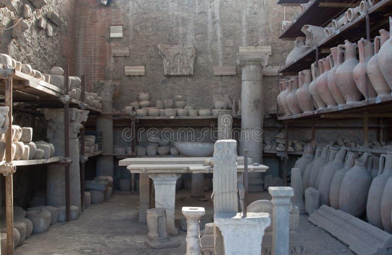 De Artefacten van Pompei stock foto