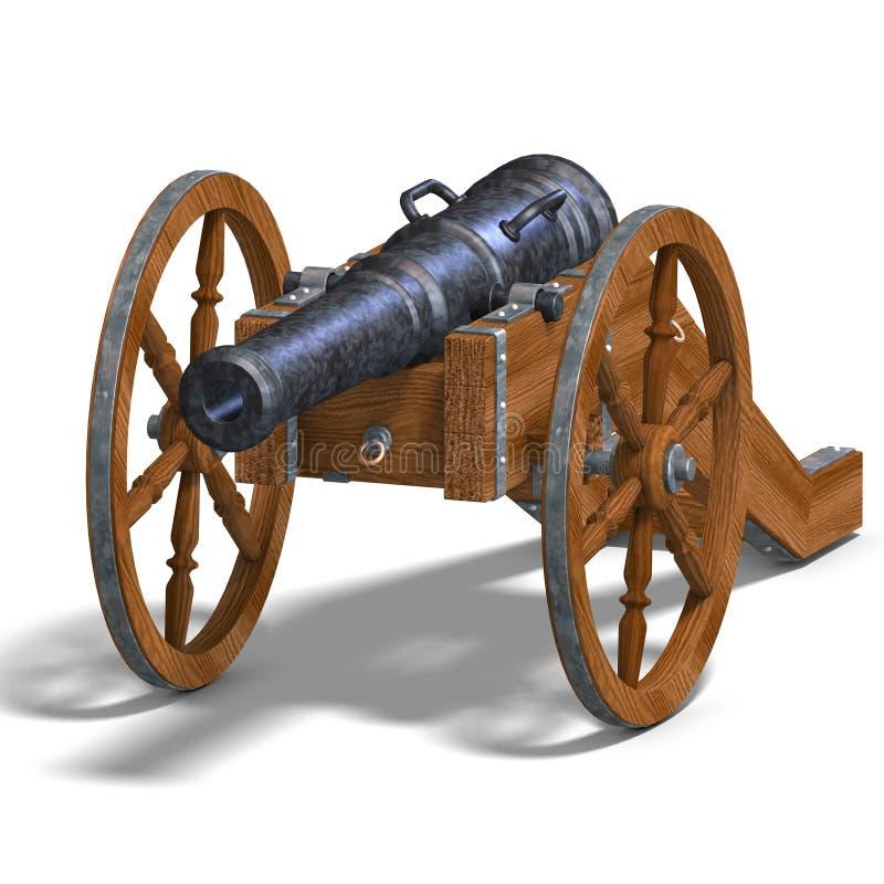 De artilleriekanon van het gebied vector illustratie