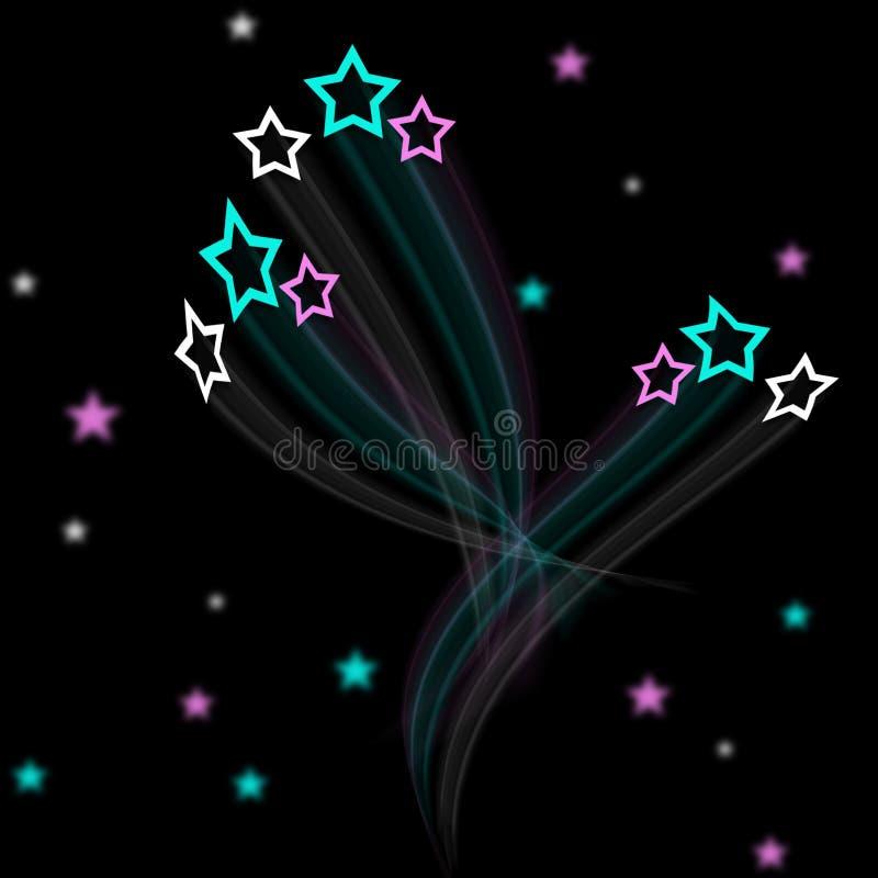 De artistieke achtergrond van het stergebied royalty-vrije illustratie