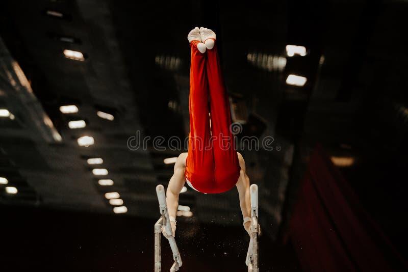 De artistieke brug van de gymnastiekoefening royalty-vrije stock fotografie