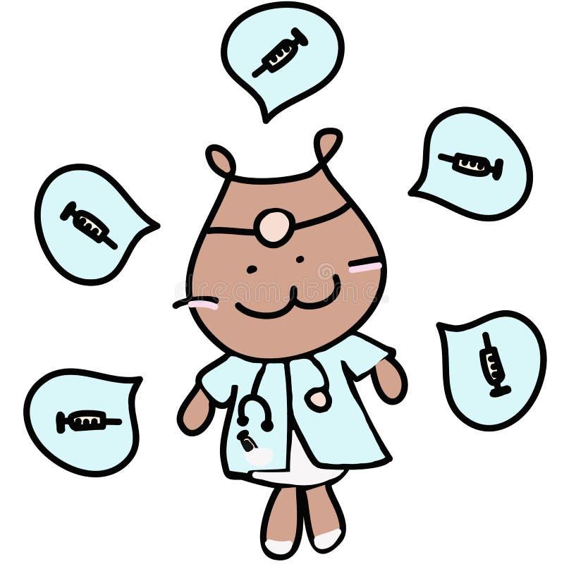 De arts draagt het Medische Beroep van de Illustratie royalty-vrije illustratie