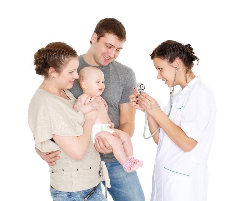 De arts en klein patien pediatrie royalty-vrije stock afbeeldingen