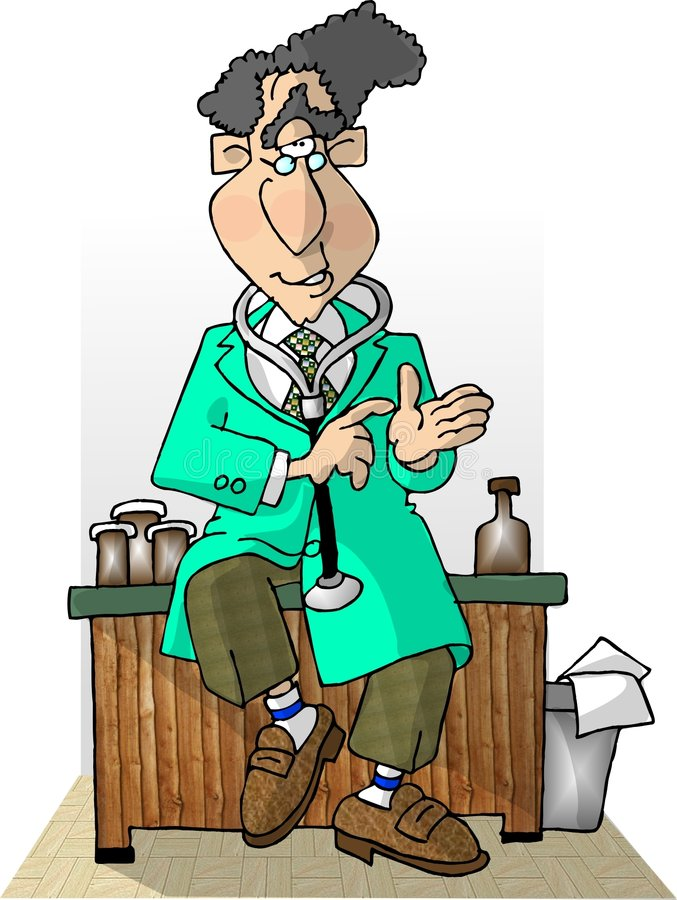 De arts is in II stock illustratie