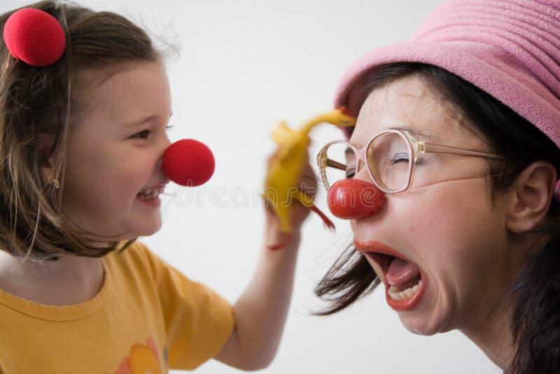 De arts van de clown stock afbeeldingen