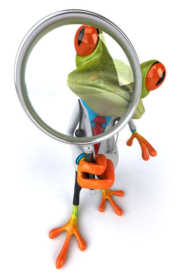 De arts van de kikker vector illustratie