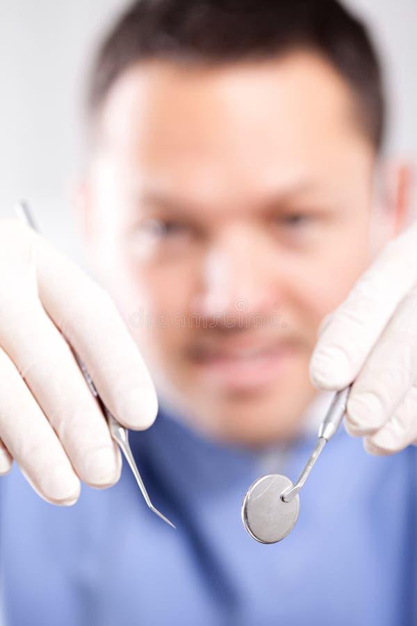 De arts van de tandarts stock foto's