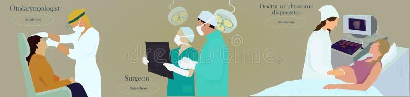 De arts van het beroep vector illustratie