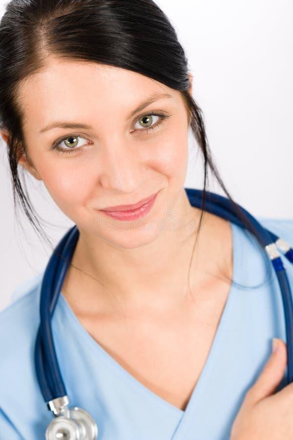 De artsen het jonge medische verpleegster van de vrouw glimlachen royalty-vrije stock afbeeldingen