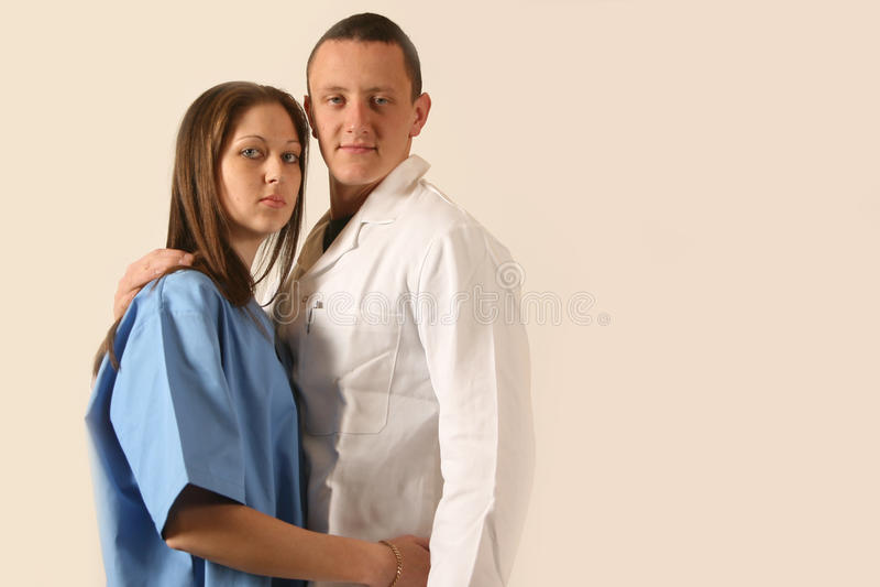 De artsenminnaars van de student stock foto