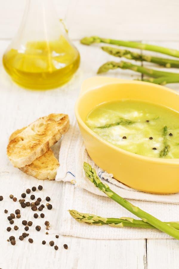De asperge soup stock foto's