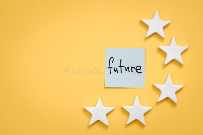 De aspiratie groot toekomstig succes van de carrièremotivatie stock foto