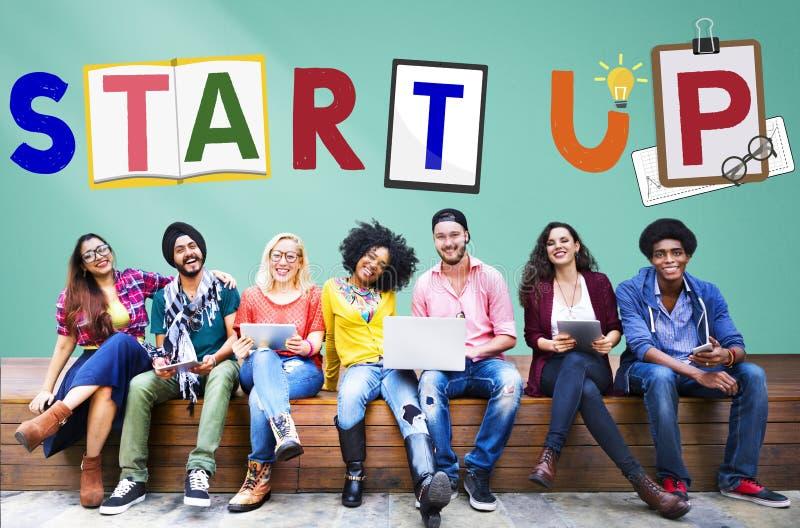 De Aspiratieconcept de start van de Bedrijfsgroeilancering stock afbeeldingen