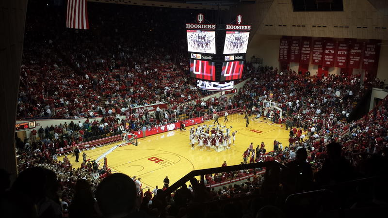 De Assemblage Hall Basketball Stadium van Indiana University stock foto