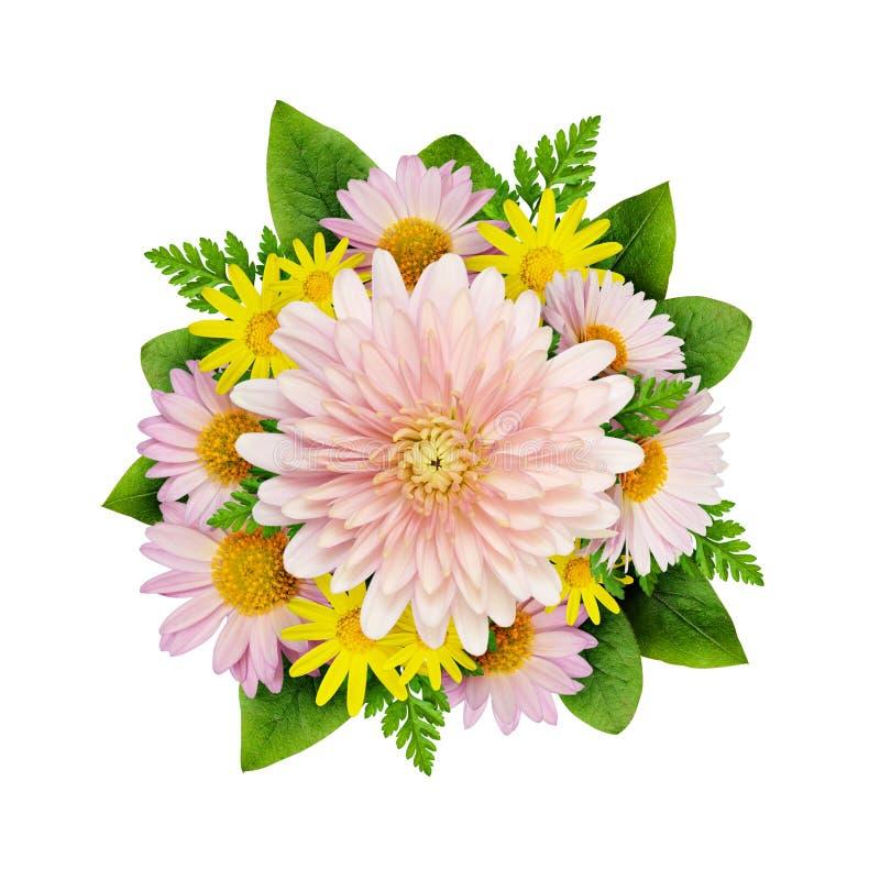 De aster bloeit bouque stock afbeelding