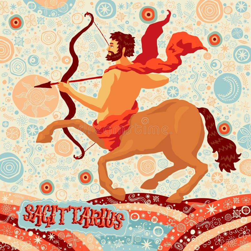 De astrologische Boogschutter van het dierenriemteken Een deel van een reeks horoscooptekens stock illustratie