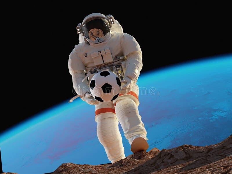 De astronaut royalty-vrije illustratie