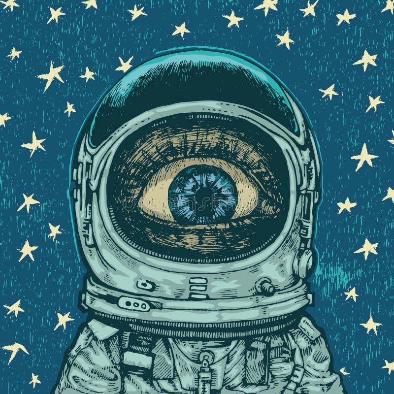 De astronaut van de verbazing stock illustratie