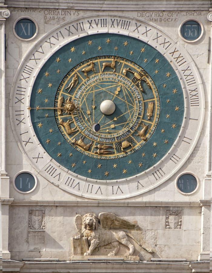De astronomische klok Padua Padua royalty-vrije stock afbeeldingen