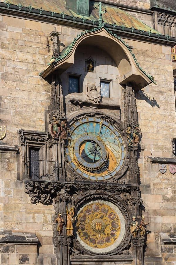 De Astronomische Klok van Praag stock fotografie