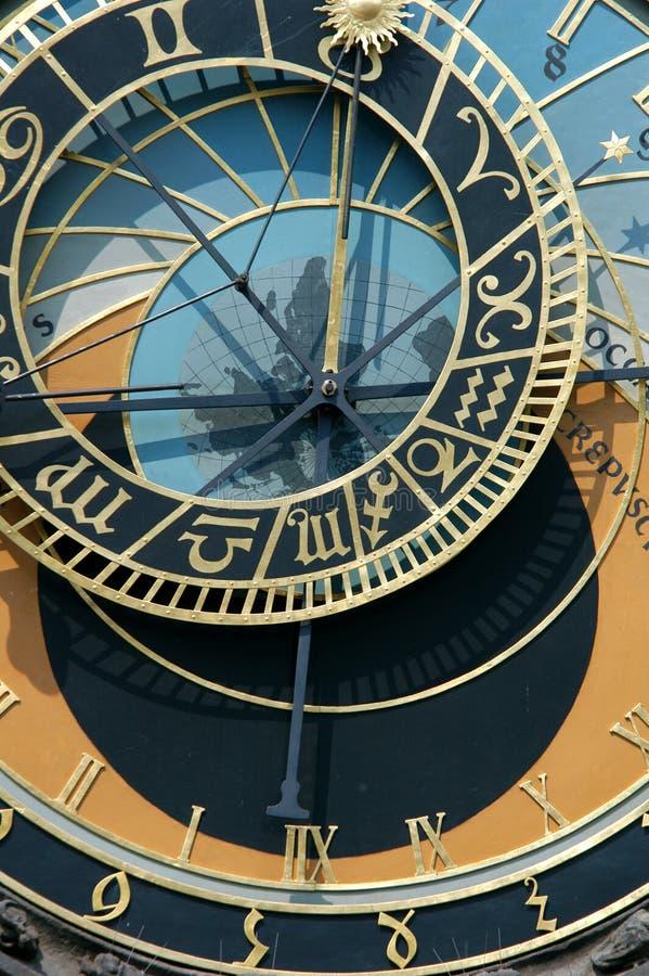 De Astronomische Klok van Praag stock foto