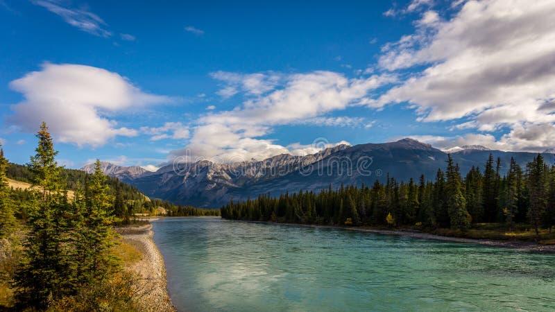 De Athabasca-Rivier royalty-vrije stock fotografie
