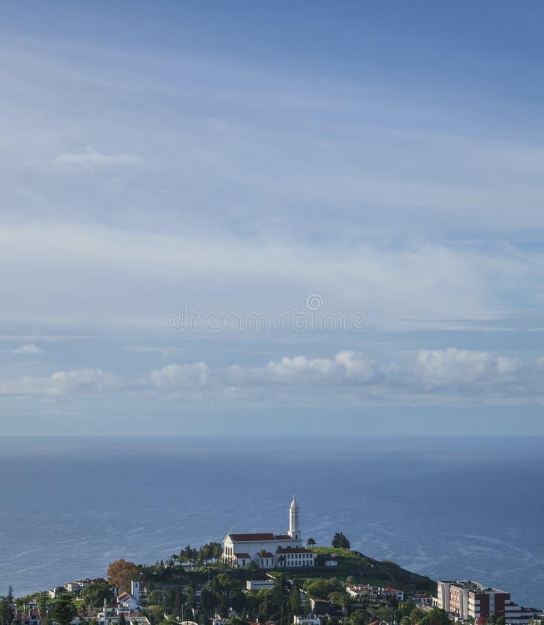 De Atlantische Oceaan, Funchal, Madera royalty-vrije stock afbeelding