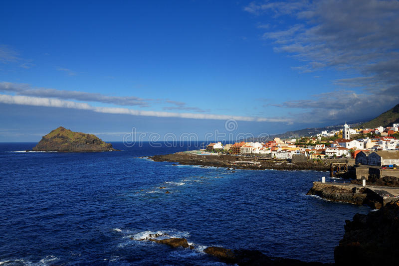 De Atlantische Oceaan in Garachico royalty-vrije stock fotografie