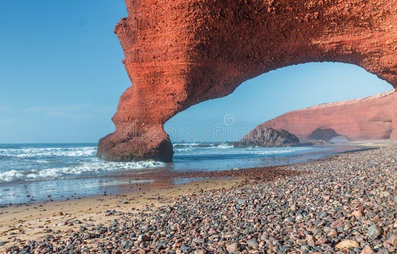 De Atlantische Oceaan in Marokko royalty-vrije stock fotografie