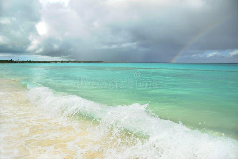 De Atlantische Oceaan vóór het onweer stock afbeelding